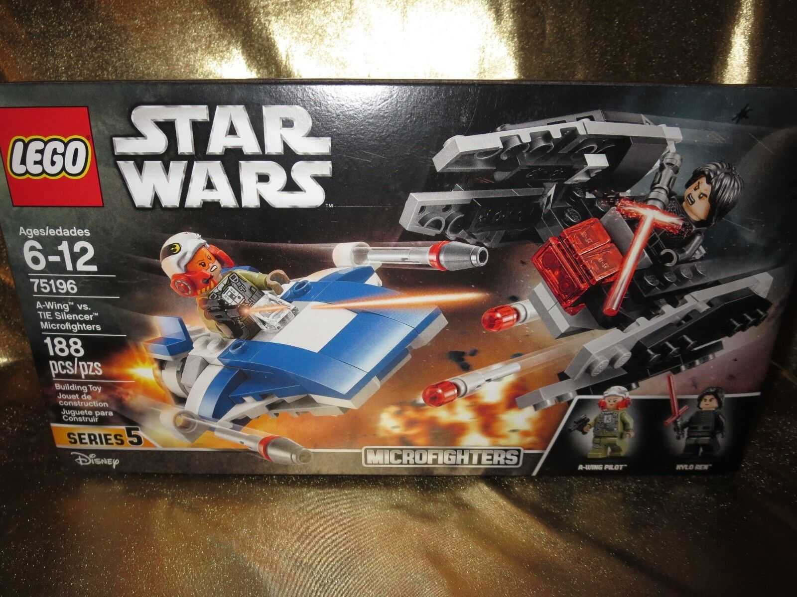 Star Wars A-Wing Krawatte Vs.Schalldämpfer Microfighters Lego Set 188 St.Neu