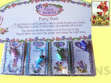 3 FAIRY PIXIE DUST NECKLACE BOTTLES CHARMS GIRLS PARTY FAVOURS GIFT TINKERBELL