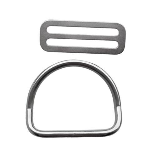 """Tauchen 2 /""""50mm Gewicht Gürtel Keeper Retainer Stopper mit D Ring Getriebe"""