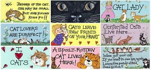 Image Is Loading Cat Lovers Hanging Wall Door PVC Signs Plaques