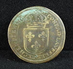 Nuremberg-Louis-XIV-LOUIS-XIV-Rechenpfennig-Conrad-Laufer-Jeton-Token