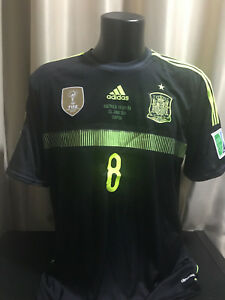 Espana-Spain-match-player-shirt-camiseta-Xavi-2014-away-Player-Issue