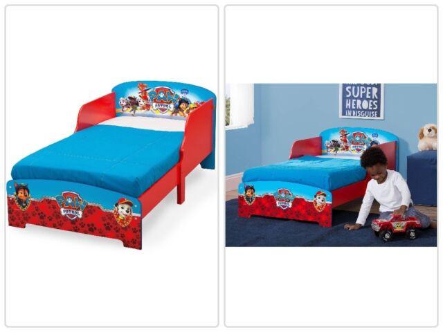 Paw Patrol Wooden Toddler Bed Kids Boys Bedroom Furniture