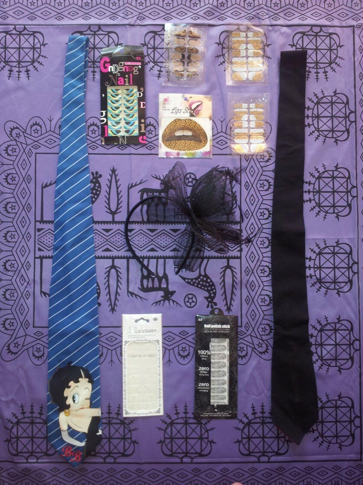 tie betty boop rare burlesque campare lolita bow nails strass sticker collective