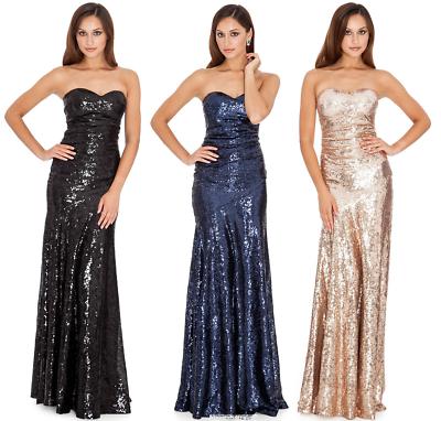 Long Mocha Grecian One Shoulder Evening Full Floor Length Fishtail Dress Party