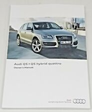 genuine audi q5 sq5 car owner manual handbook ebay rh ebay co uk owners manual audi q5 2015 Audi Q7 TDI