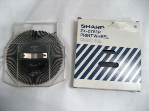 SEE FONTS BELOW YOUR CHOICE OF ONE New Sharp ZX-078EP Typewriter Printwheel