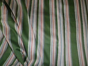 Vintage-1979-Lee-Jofa-Cotton-Interiors-or-Dress-Fabric-Green-039-Regency-Stripe-039