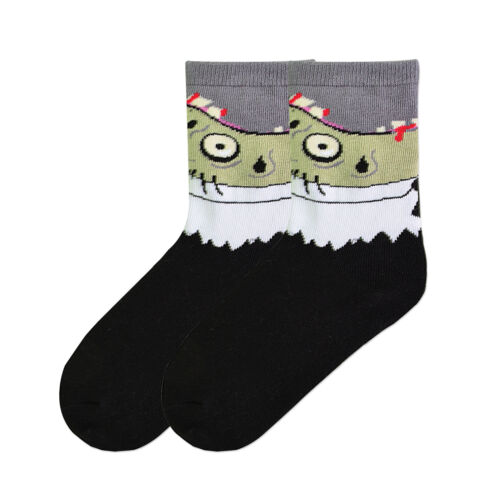 K.Bell Kids Boys Zombie Green Gray Black Cotton Blend Socks Kids Size 6-8.5 New