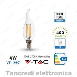 Lampadina-led-V-TAC-4W-40W-E14-bianco-caldo-2700K-VT-1997-a-fiamma-filamento