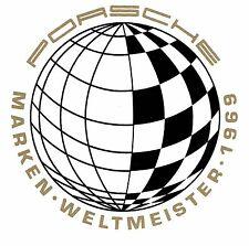 Reproduction 1970-Early 1971 Porsche World Championship Marken Weltmeister 1969