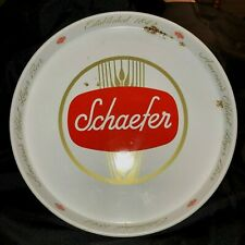 "SCHAEFER AMERICA/'S OLDEST LAGER BEER ESTABLISHED 1842 13/"" TIN LITHO TRAY CREAM"