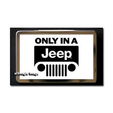 Only In A Jeep 02 Metal Business Card Case Holder Gift