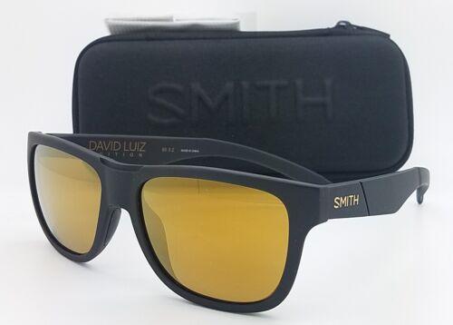 NEW Smith Lowdown Slim DL Sunglasses Black Chromapop Polarized Gold Mirror 807