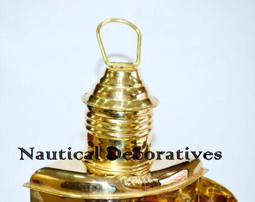 "Ship Lantern Wall Hanging Decorative Brass Lantern Red 10/"" PORT OIL LAMPS"