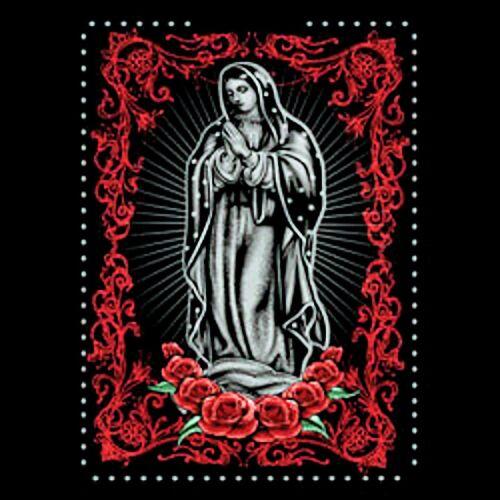 Big and Tall Graphic T Shirt Virgin Maria Men Black Pro Club Short Sleeve Tshirt
