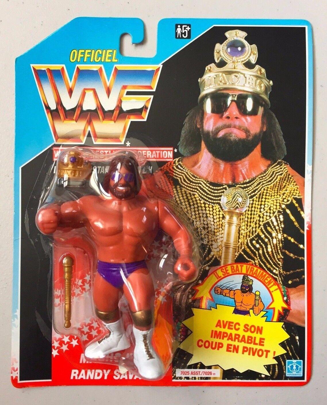 WWF HASBRO MACHO KING RANDY SAVAGE MOC WWE Wrestling Figure Vintage Retro