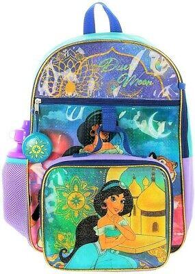 Disney Princess 5-Piece Backpack Set Featuring Princess Jasmine