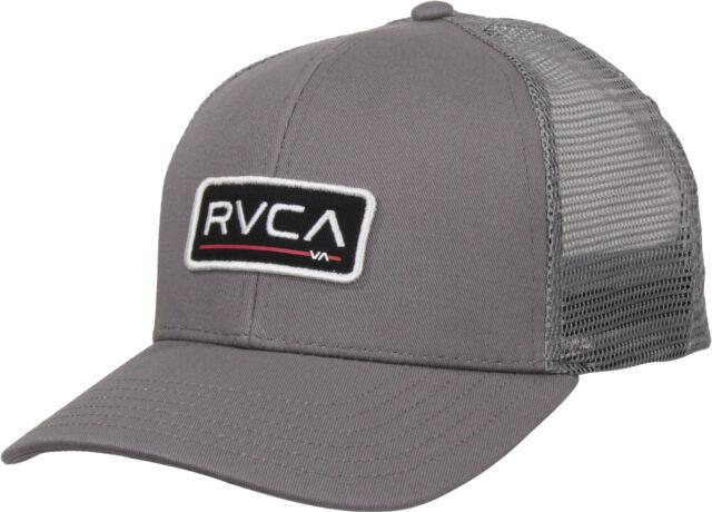 1f1b9b10267 RVCA Mens VA Sport Ticket Trucker II Trucker Snapback Hat - Gray