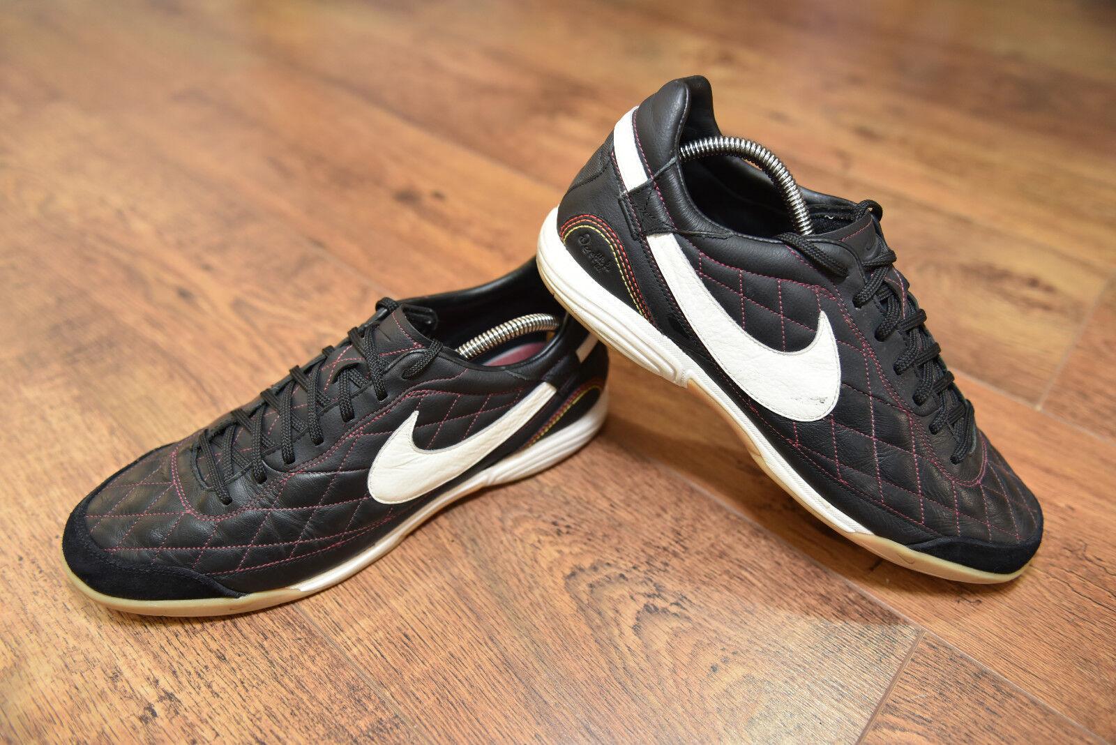 Nike Ronaldinho R10 Ic Indoor Fútbol botas Uk 10.5 en muy buen estado Turf Entrenadores Tribunal