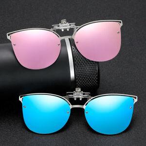 Women-Cat-eye-Polarised-Clip-On-Flip-Sunglasses-UV400-Retro-Polarized-Eyewear