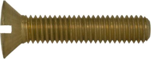 Linsensenkkopf Schraube mit Schlitz DIN 88 zur Oldtimer Restauration Messing