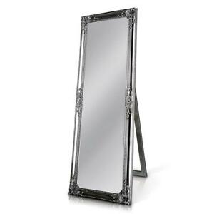 Details About Silver Shabby Chic Solid Wood Full Length Mirror Wall Mounted Free Standing New