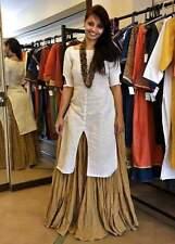 Indian Stylish Designer Bollywood Party White Anarkali Salwar Suit Kameez Dress