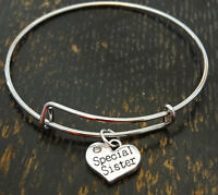 Special Sister Bangle Bracelet, Special Sister Jewelry, Sister Birthday Gift