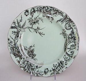 222 Fifth ADELAIDE LIGHT GREEN and SILVER Floral & Bird DINNER ...
