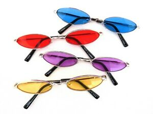 d3b0a8001a New Retro Vintage Oval Shape Metal Frame Sunglasses Colorful Lenses ...