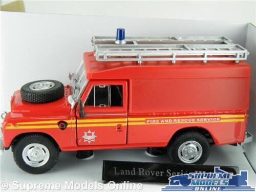 Land Rover Serie 3 Modelo de Coche de bomberos servicio de rescate escala 1:43 K8 Cararama