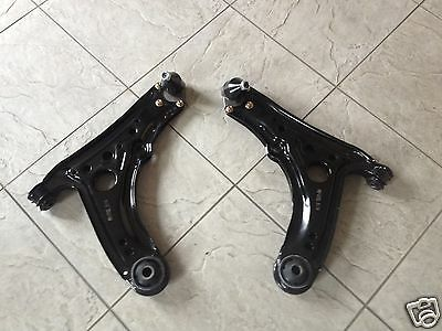 SEAT AROSA 97-04 TWO FRONT LOWER WISHBONE ARMS WITH BUSHES AND BALL JOINTS