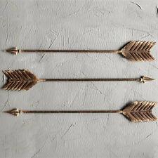 Single - Metal Arrow Wall Decor Distressed Brown Finish