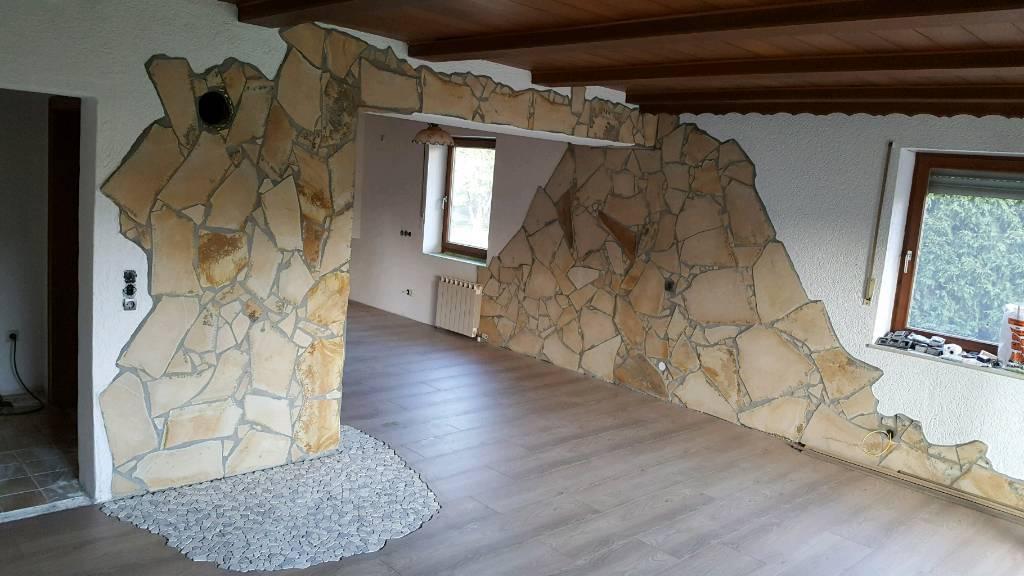 Mediterane Toskana Natursteine Polygonalplatten Bruchsteine 4-7mm ca. 80qm