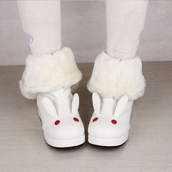 New Sweet Rabbit Lolita tea party badydoll Winter Snow Boots Custom made 8606-5