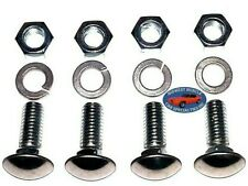 """GM GMC 7/16-14x1-1/4"""" Stainless Capped Round Head Front Rear Bumper Bolts 4pcs A"""
