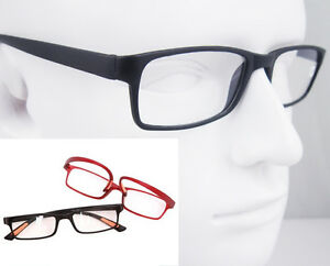 Comfortable-Flexible-Reading-Glasses-Red-Black-Eyeglass-Frame-RX-1-1-5-2-2-5