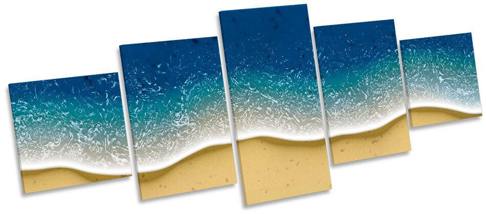 Design moderno Onda Shore Beach Multi a Muro Art Box Frame stampa