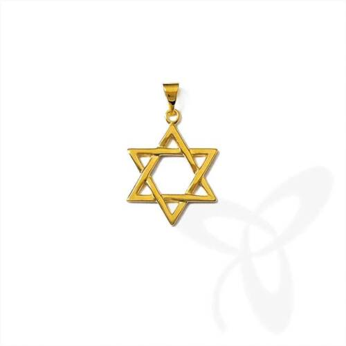 David stern cadenas remolque hexagrama 925 Sterling plata o dorado Top