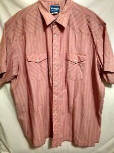 Wrangler-Country-Western-True-Vintage-Pearl-Snap-Short-Sleeve-Shirt-Mens-3XL