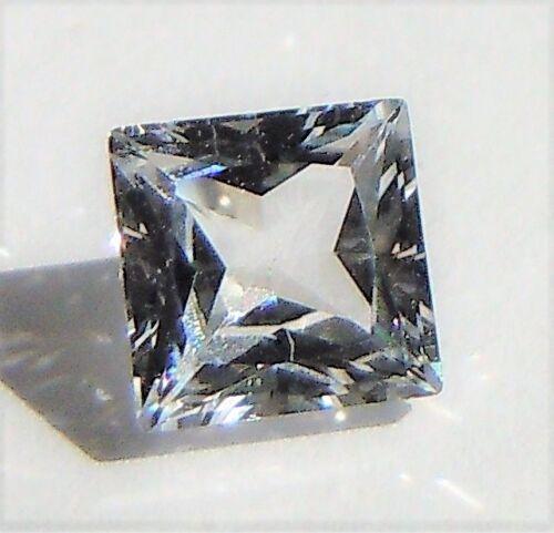 White Sapphire Princess 3 x 3 mm 0.4 ct Real VVS D Brilliant Solitaire Cut Stone