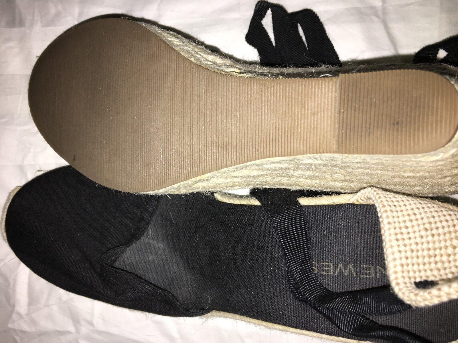 Nine West E-Sideways Tie Tie Tie Wedge Platform Comfort shoes Women Size 8M b93b40