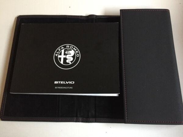 Alfa Romeo Stelvio Bedienungsanleitung 2017 Betriebsanleitung + Bordmappe Ba