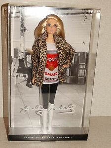 2016 ANDY WARHOL Campbell/'s Soup Barbie Doll NEW In Stock # DKN04-Silver Label