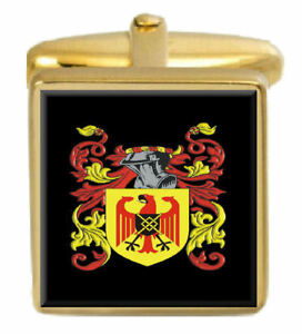 100% QualitäT Pridham England Familie Wappen Heraldik Manschettenknöpfe Schachtel Set Graviert