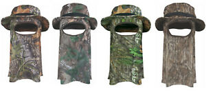 Ol  Tom Turkey Big Bob Camo Boonie Sun Hat with Mesh Face Mask Men s ... 8f506ddd5b41