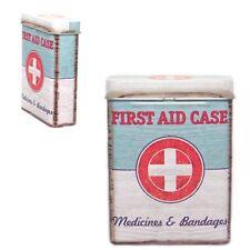 Boîte métal First Aid Case - Trousse premiers secours vintage - Médicaments