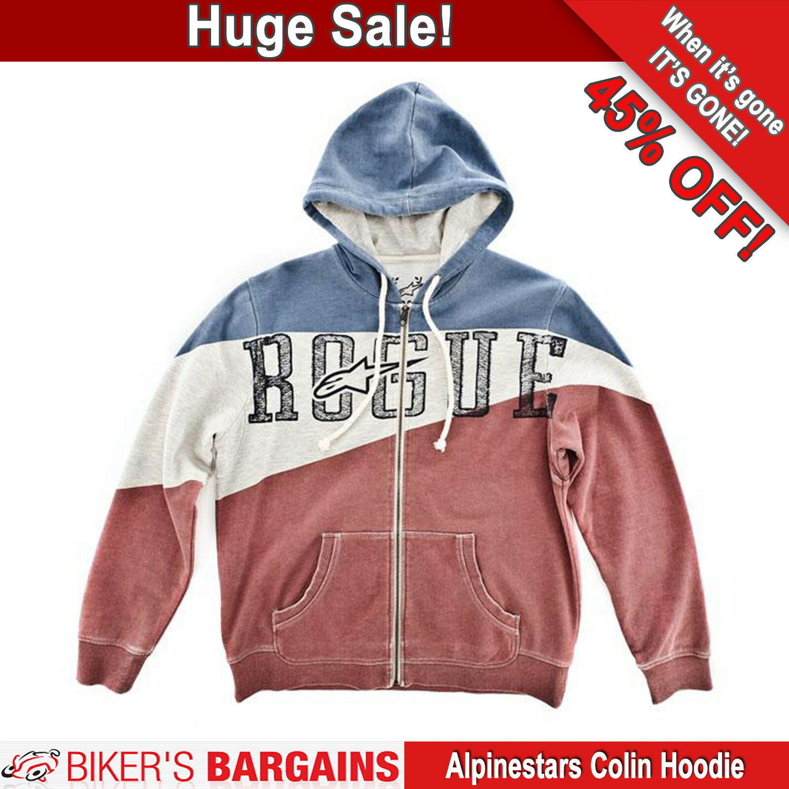 ALPINESTARS COLIN HOODIE (UK42 EU52) WAS  - - - NOW  45% OFF 9146d2