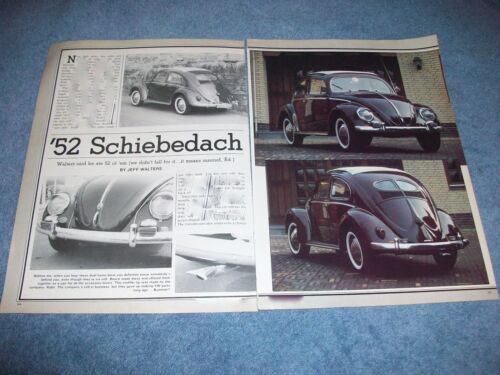 "1952 Volkswagen Split Window Vintage Article ""52 Schiebedach"""